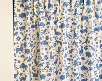 mlphelps1019 - CUSTOM ORDER  - 4 Yards Handprinted Linen/Cotton BLUE Fabric Otomi Print