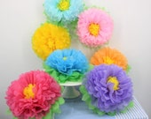 Tissue Pom Pom Flowers Backdrop Flowers Giant Flowers Tissue Pom Pom Tissue Balls Birthday Hanging Wedding Decoration Table Centerpiece
