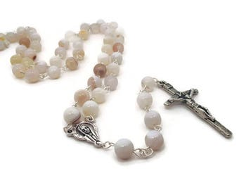 White Agate Rosary