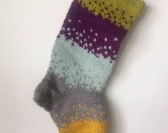 Handknit Christmas Stocking