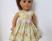 18 Inch Doll-American Girl Dress: Easter Picnic