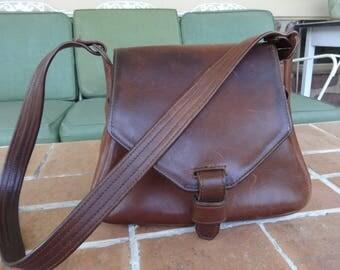 Vintage women's handbag Walter Dyer Genuine leather designer Saddle bag accessories purse