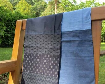 Sewing Kit: color denim and Japanese geometric scarf
