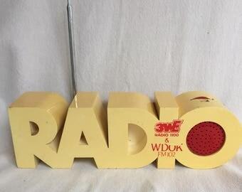 Original 70s ISIS Radio am FM Panton Space Age Mid Century Modern Pop-Art vintage 102.1 Cleveland OH