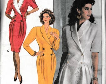 1989 Sewing Pattern Butterick 3923 Misses dress bust 31.5, 32.5, 34