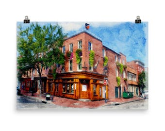 Max's Taphouse, Fells Point, Baltimore, Maryland, Baltimore Art, Historic Fells Point, Museum Quality Poster Print