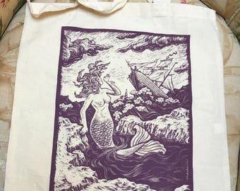 Mermaid tote bag - seascape
