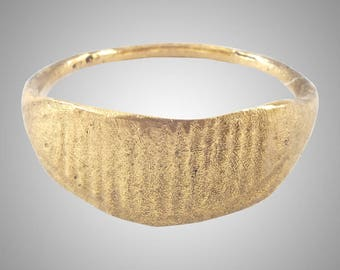 Authentic Ancient Viking  wedding Ring Band , Jewelry C.866-1067A.D. Size 11  (20.6mm)(Brr1151)