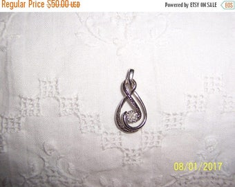 TWICE A YEAR, 25% Off Vintage Black and White diamonds pendant. Sterling silver.