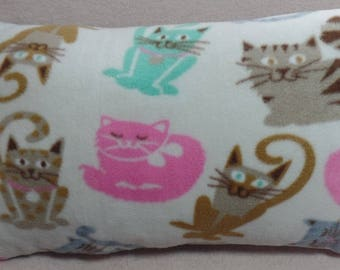 "12"" x 21"" Playful CATS Fleece Throw Pillow"