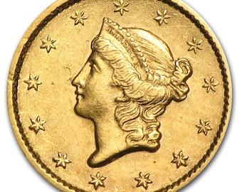one dollar US Liberty Gold Xf random year