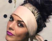 Blush Velvet Wire Twist Head Wrap