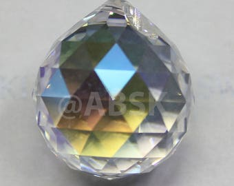 1 pieces Swarovski Crystal Strass 8558 Drop Ball Pendant Crystal Clear AB - select 20mm 30mm 40mm - Free Shipping