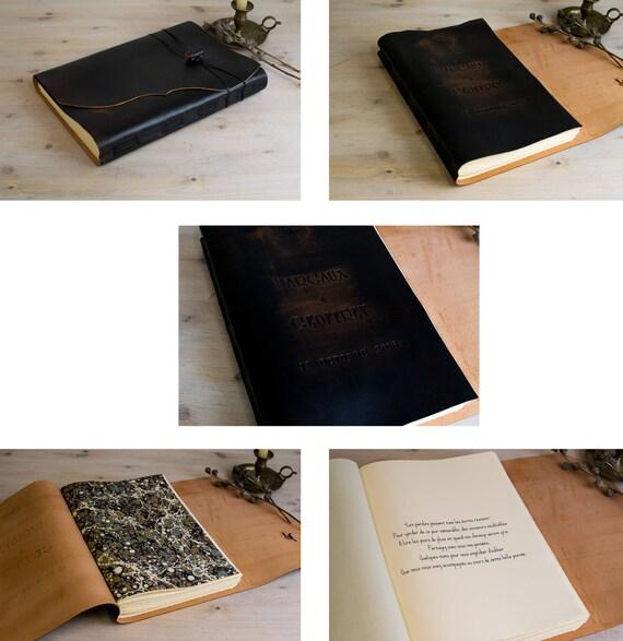 Diario en piel libro de dibujo libro de firmas cuaderno A4