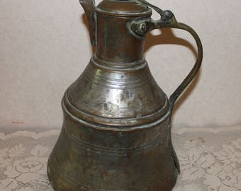 Antique Brass Turkish Coffee Pot – Great Primitive Décor
