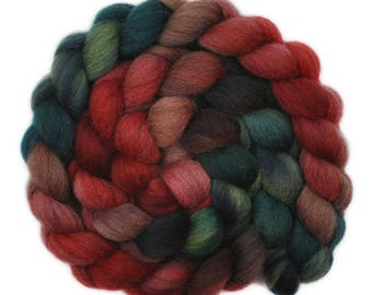 Hand dyed roving - Gray Shetland Wool / Nylon 80/20% spinning fiber - 4.8 ounces - After the Holiday 2