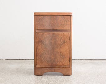 Deco Burl Wood Nightstand / End Table