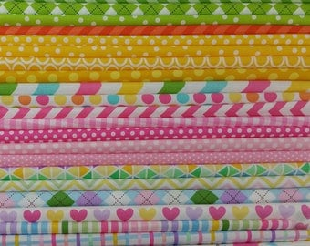 Spring Scrap Pack #2 - 28 pieces - approx 4.33 yards of fabrics