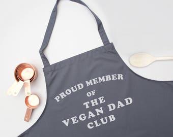vegan dad apron - funny apron,mens apron,personalised apron,slogan apron,vegan gift,dad gift,dad birthday gift,chef apron,novelty apron