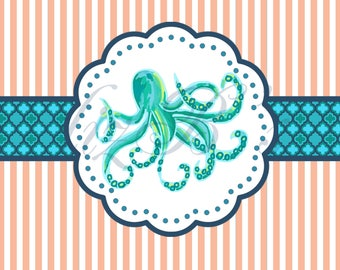 DIGITAL Octopus Thank You Notes