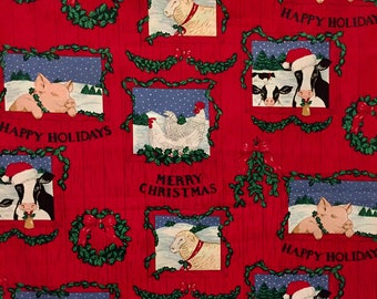 Fabric Traditions Christmas Fabric - Vintage - 1993 - OOP