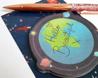 Bright Planet Earth Sticky Notes