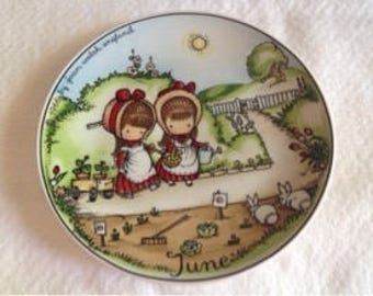 Joan Walsh Anglund JUNE Birthday Plate