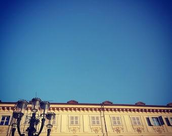 Cielo blu sopra piazza San Carlo