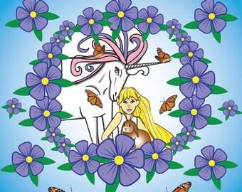 Friendship Unicorn Mandala Art Print