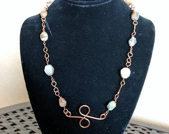 Peruvian Opal Copper Necklace