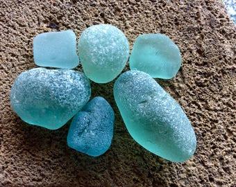 Aqua Boulders Flats English Sea Glass UK-A13-6
