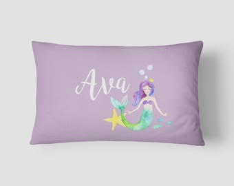 Personalised Name cushion Mermaid