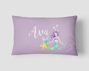 Personalised Name cushion Mermaid