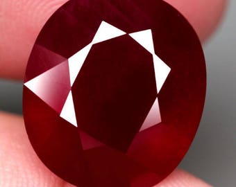 BIG 10.80 ct Natural Ruby Oval Cut Loose Gemstone