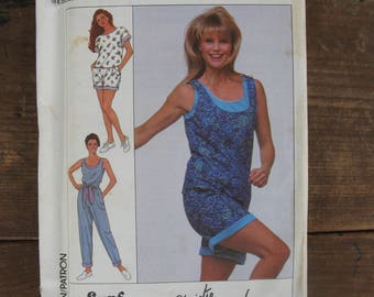 simplicity 9158 surf club Christie Brinkley size AA PT- LG vintage 1980s ladies summer clothes uncut factory folded