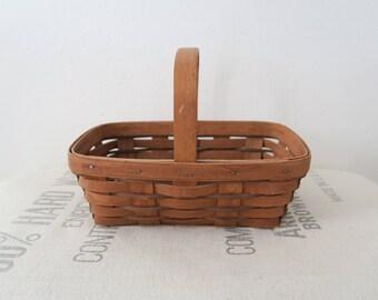 Vintage Longaberger Basket With Handle 1989