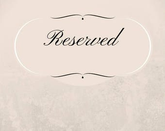 Reserved for Leigh