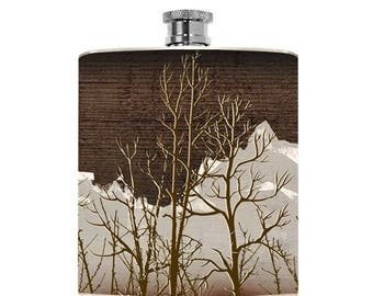 Mens Flask Drinking Gifts Womens Liquor Groomsmen Gift Liquid Courage Bridesmaid Wedding Personalized Hunting Gifts Outdoorsman Outdoorsy