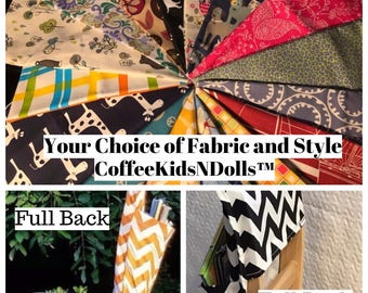 Chair Pockets Seat Sacks YoU ChOoSe // Full or Tall Back // LiMiTeD EdItIoN PrInT FaBrIcS  Elementary School // All Expandable Pocket Styles