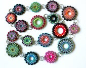 RESERVED! Polymer Clay Necklace and earrings Mandala.