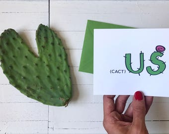 Anniversary Card -  Friendship, Birthday, Wedding, Greeting Card, Cactus