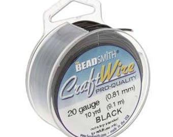 Supplies-24 Gauge Wire Round Non-Tarnish Black Craft Wire 20 Yards