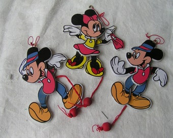 Vintage MICKEY & MINNIE Ornaments