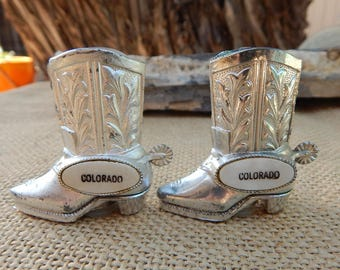 Colorado Boot Salt and Pepper Shakers  ~  Boot Salt and Pepper Shakers  ~  Colorado Souvenir Item