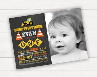 Construction Birthday Invitation Construction Birthday Party Construction Invitation Construction Party Invitation Boy Birthday Invitations