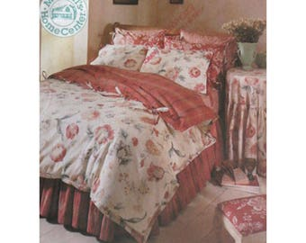 Bed Cover, Pattern, Bedroom Decor, McCall's 8037, UNCUT Pillow Sham, Pillowcase Pattern, Tablecloth, Comforter Cover