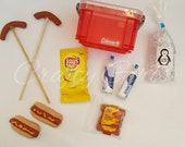 18 inch Doll Hot Dog Camping Accessory Set