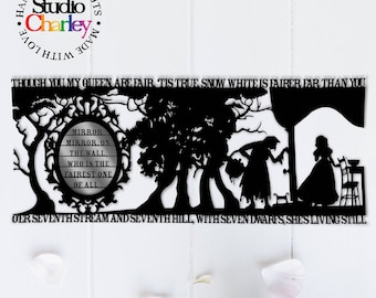 Snow White's Mirror Papercutting Template • Paper Cut Template • DIY Paper Cutting • Fairytale • Personal Use Only