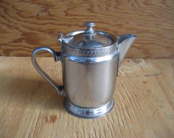 Vintage stainless steel creamer, vintage kitchen, dining, serving, legions utensil