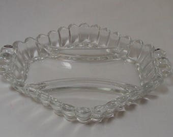 Heisey Crystolite Clear 3 Part Relish Dish Elegant Glass